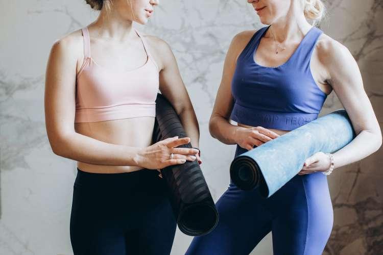 take a yoga class for a unique girls night idea