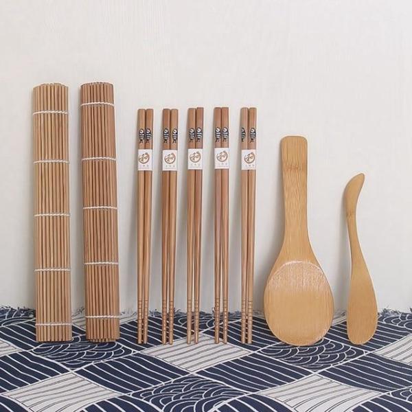 DIY 9-Piece Bamboo Sushi Making Set