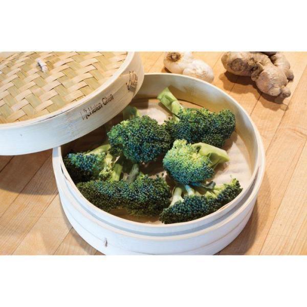 """Helen's Asian Kitchen Bamboo Steamer 10"""" 3-Pc Set"""