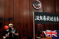 Hong Kong Protesters Who Broke Into...