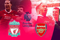 Liverpool against Arsenal while...