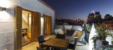 Terraza B&B Apartamentos Fuencarral 46