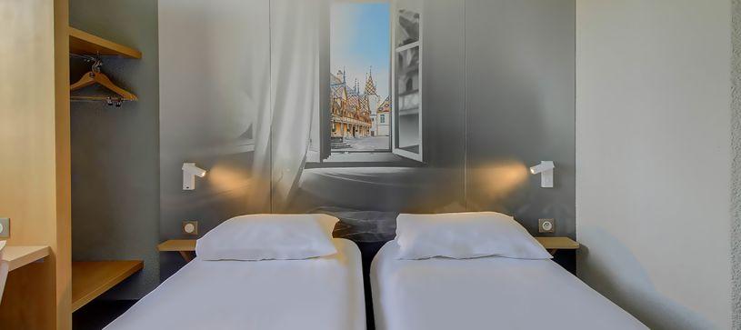 hôtel à beaune chambre double 2 lits