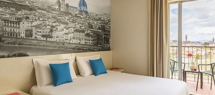 B&B Hotel Firenze City Center - Camera matrimoniale con terrazza