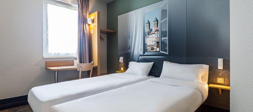 hôtel à metz chambre double 2 lits