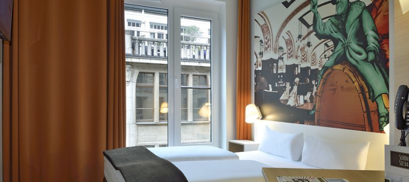 Hotel Leipzig-City bedroom for 1 to 2 persons