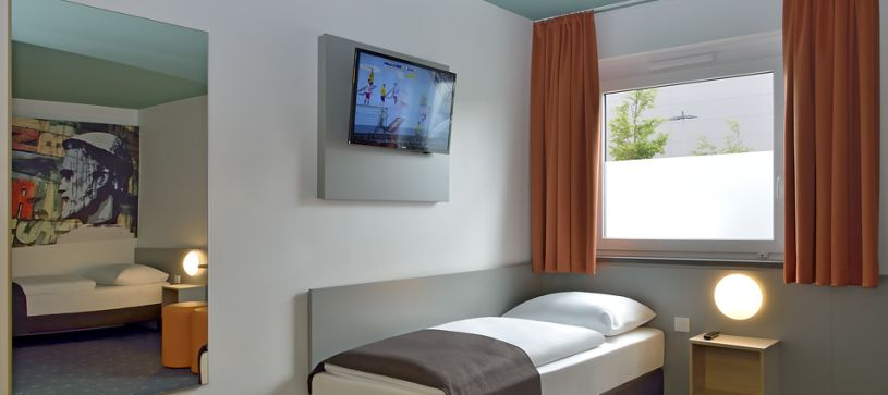 Hotel Mainz-Hechtsheim barrier-free room accessible bed