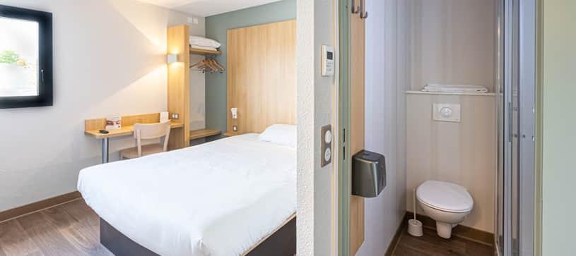 chambre double B&B Hôtel Angers Parc Expo