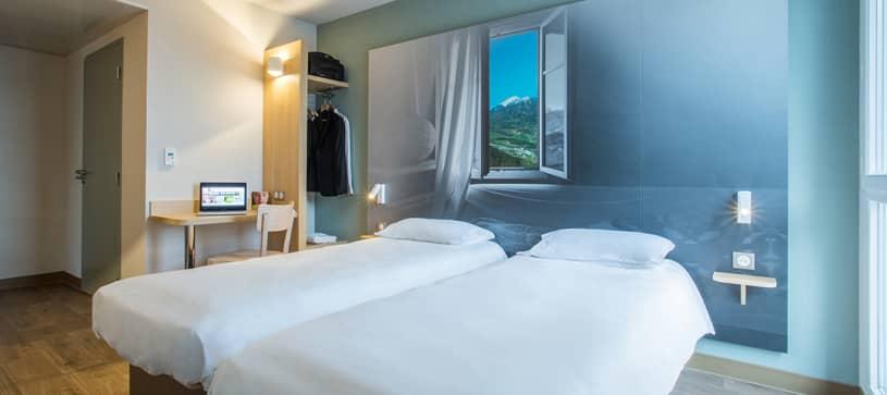 hôtel à annemasse chambre double 2 lits
