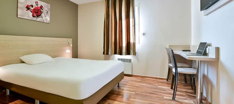 chambre double hotel Bollène B&B HOTELS