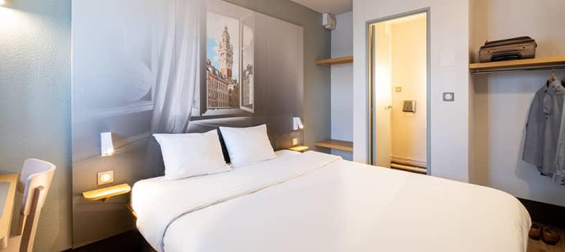 chambre double B&B Hôtel Lille Aéroport Seclin