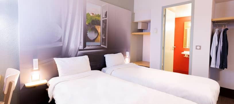 hôtel à limoges chambre double 2 lits