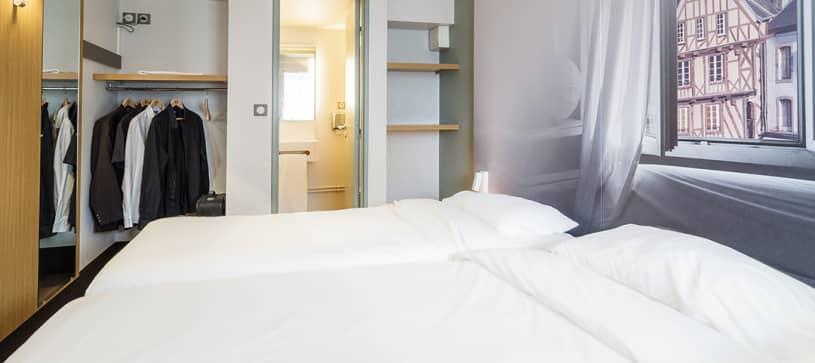 hotel a Morlaix camera da letto