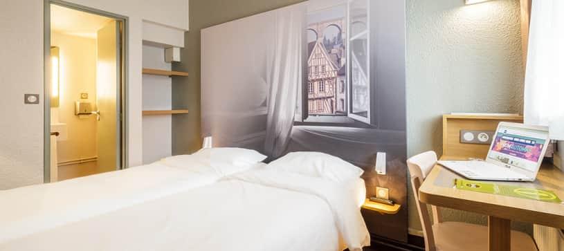 hôtel à morlaix chambre double 2 lits