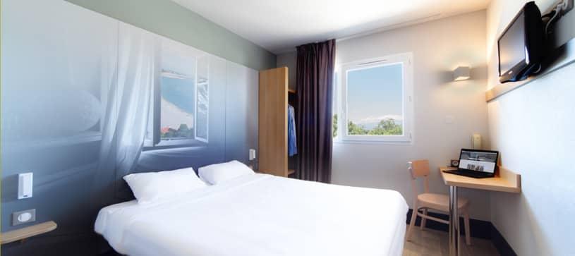 chambre double B&B Hôtel Perpignan Saleilles