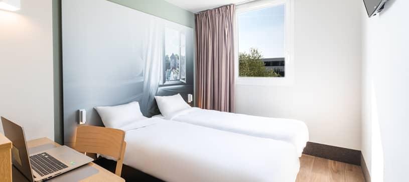 hôtel à rennes chambre double 2 lits