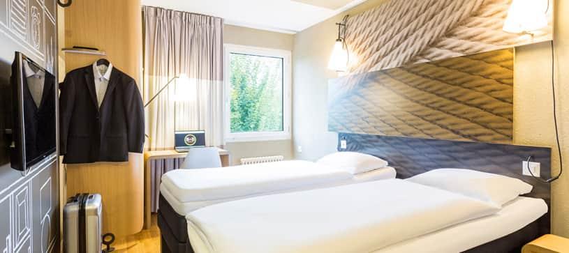 chambre twin B&B Hotel Rothrist Olten