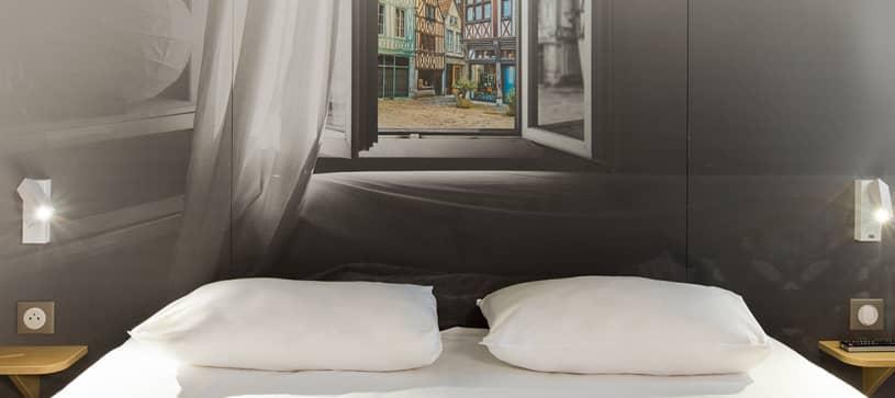 chambre double hôtel Rouen Centre B&B HOTELS