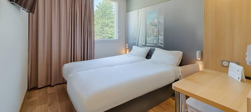 Hôtel à Aix-en-Provence chambre double 2 lits
