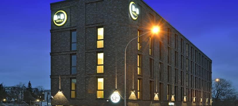 Hotel Lübeck Außenansicht bei Nacht