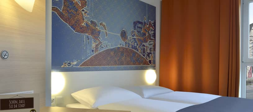 Hotel Magdeburg bedroom for 1 to 2 persons