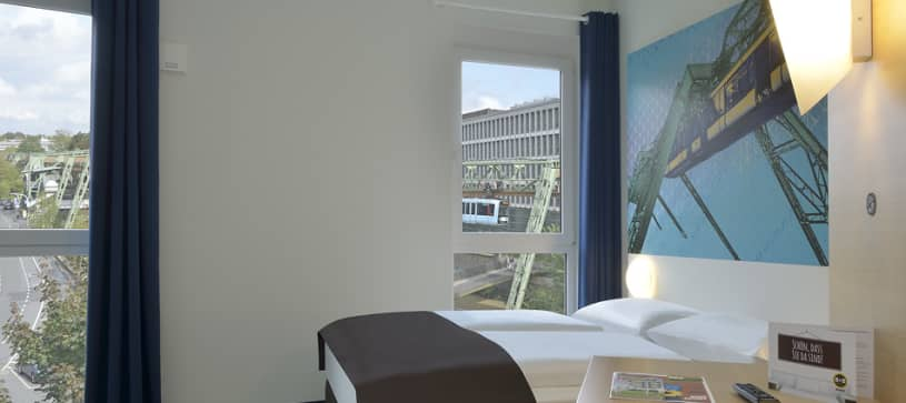 Hotel Wuppertal bedroom for 1 to 2 persons