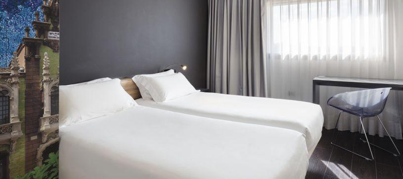 Habitación doble con dos camas Hotel B&B Albacete