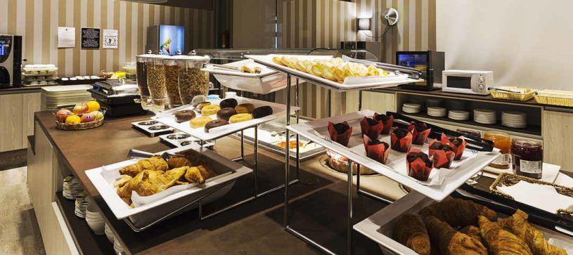 Desayuno detalles Hotel B&B Alicante