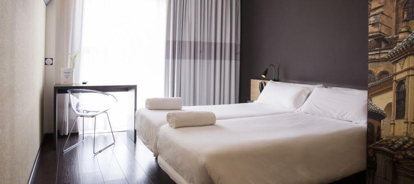 Habitacion doble dos camas Hotel B&B Granada