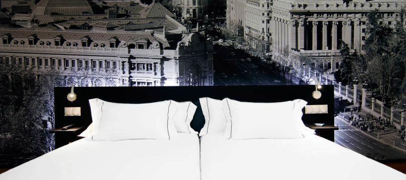 Habitación doble con dos camas Hotel B&B Madrid Aeropuerto T4