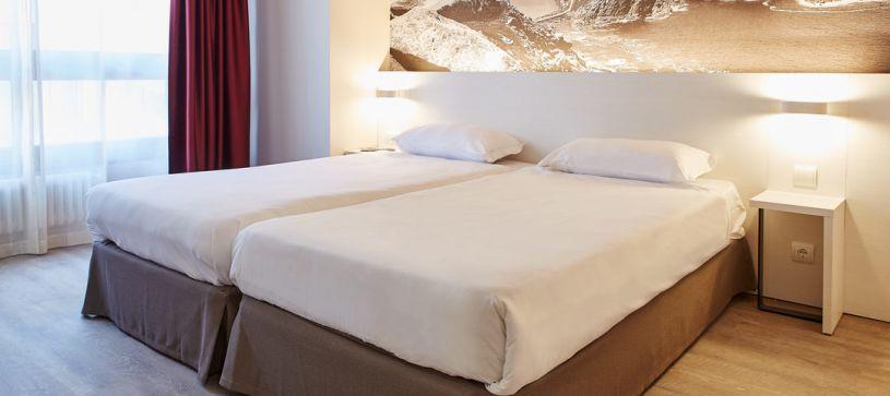 Hotel B&B Vigo habitación doble con dos camas