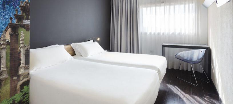 Hotel B&B Albacete habitación doble con dos camas