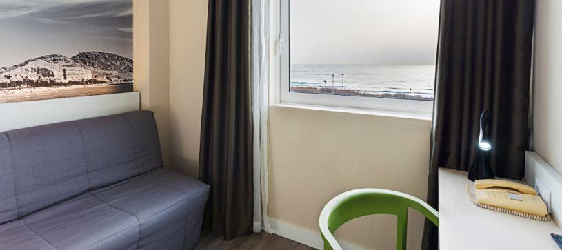Habitación con vistas al mar Hotel B&B Alicante