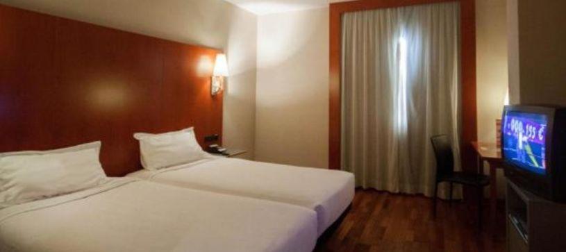 Habitación doble con dos camas Hotel B&B Elche