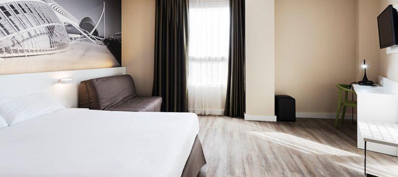 HAbitación doble Hotel B&B Valencia Ciudad de las Ciencias