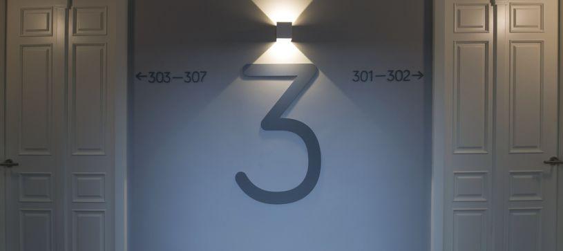 Numeración B&B Apartamentos Fuencarral 46