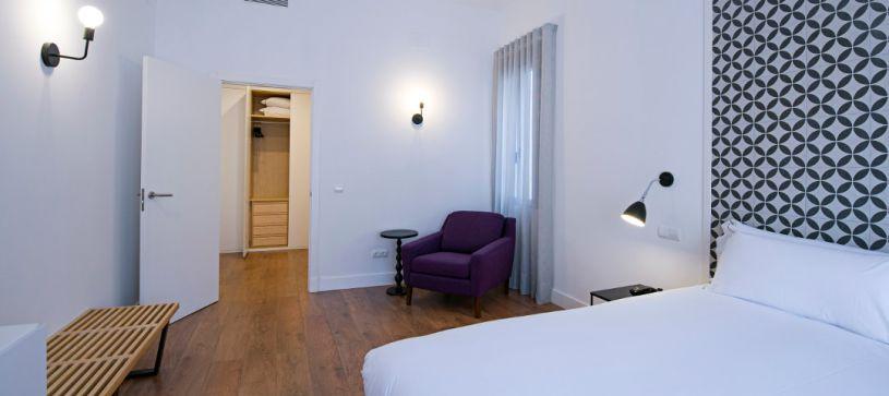 Panorámica habitación B&B Apartamentos Fuencarral 46