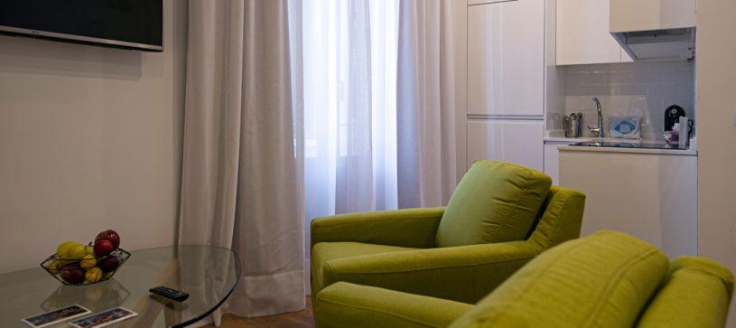 Cocina Estudio Madrid B&B Apartamentos Fuencarral 46