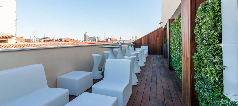 Terraza Chill Out Hotel B&B Madrid Fuencarral 52