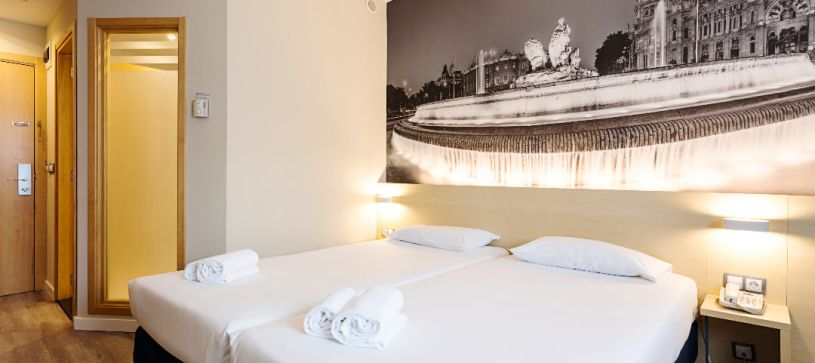 Camas habitación twin Hotel B&B Madrid Airport T1 T2 T3