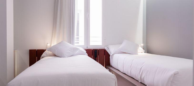 Habitación twin Hotel B&B Fuencarral 52