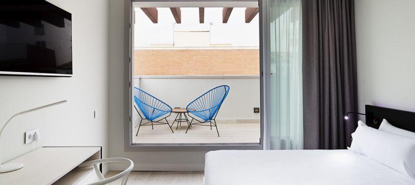 Panorámica terraza Hotel B&B Puerta del Sol