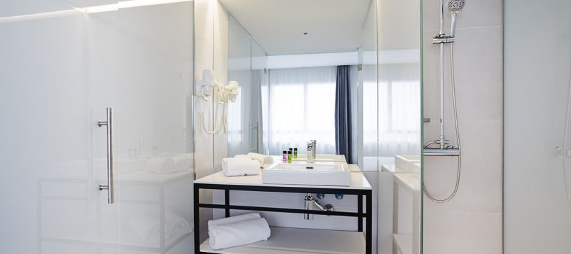 Detalle baño  Madrid Hotel B&B Puerta del Sol