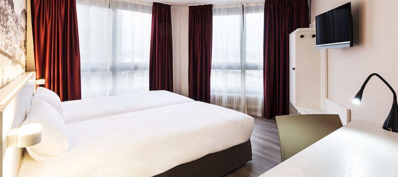 Habitación doble dos camas Hotel B&B Vigo