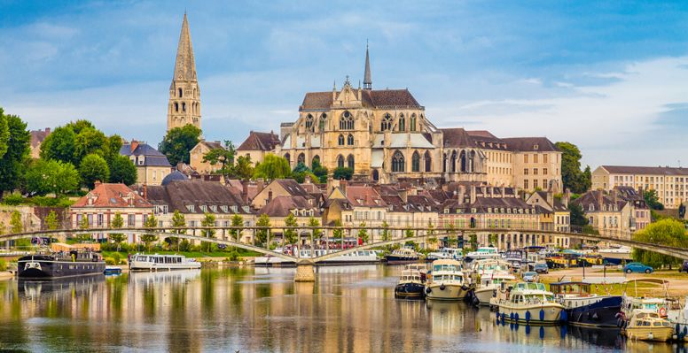 View of the historical center of Auxerre