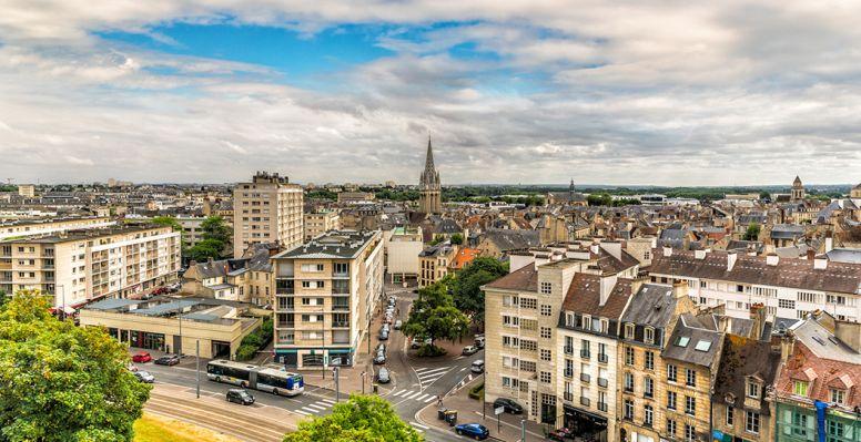Panorama de la ville de Caen