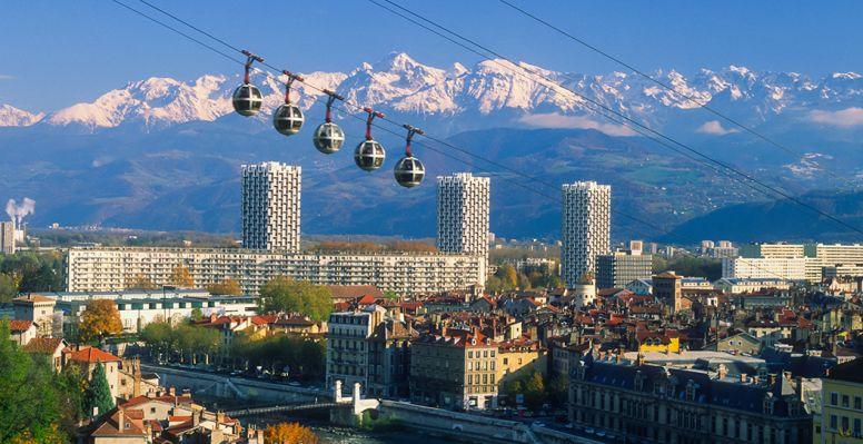 Vue sur la ville de Grenoble