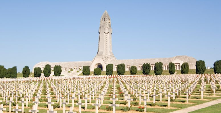 Tombstone soldiers at Verdun