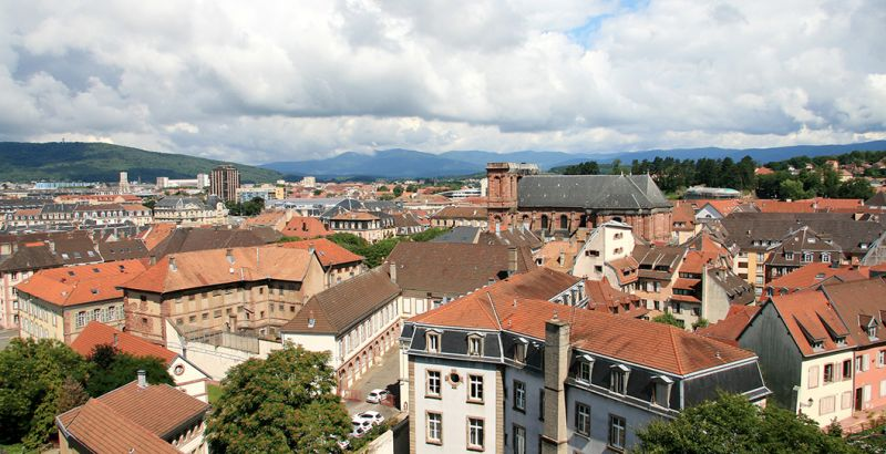 View of the historical center of Belfort