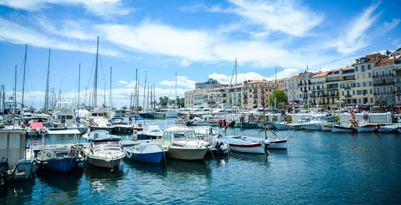 French riviera of Cannes